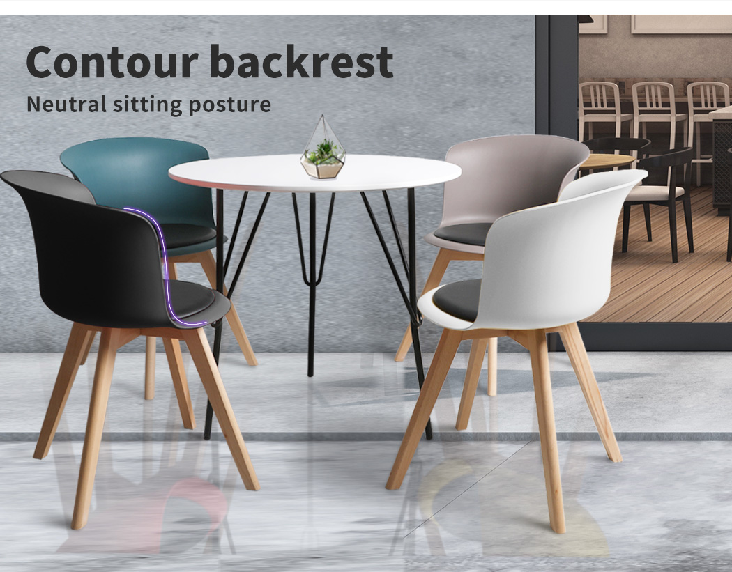 thumbnail 124 - Dining Table Chairs Set Round Café Kitchen Office Meeting Wooden Leg Modern Seat