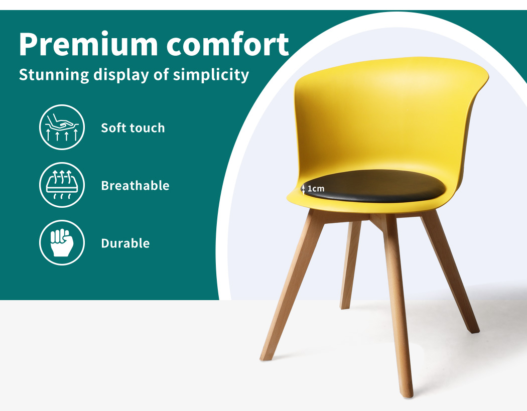 thumbnail 135 - Dining Table Chairs Set Round Café Kitchen Office Meeting Wooden Leg Modern Seat