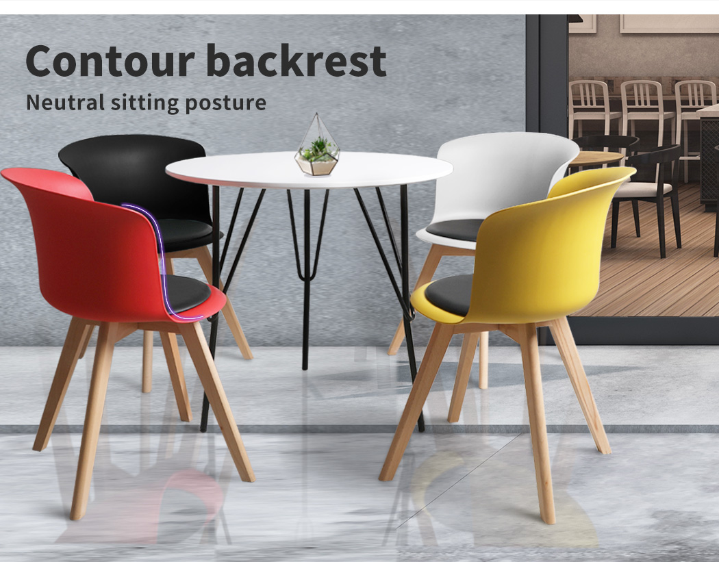 thumbnail 136 - Dining Table Chairs Set Round Café Kitchen Office Meeting Wooden Leg Modern Seat