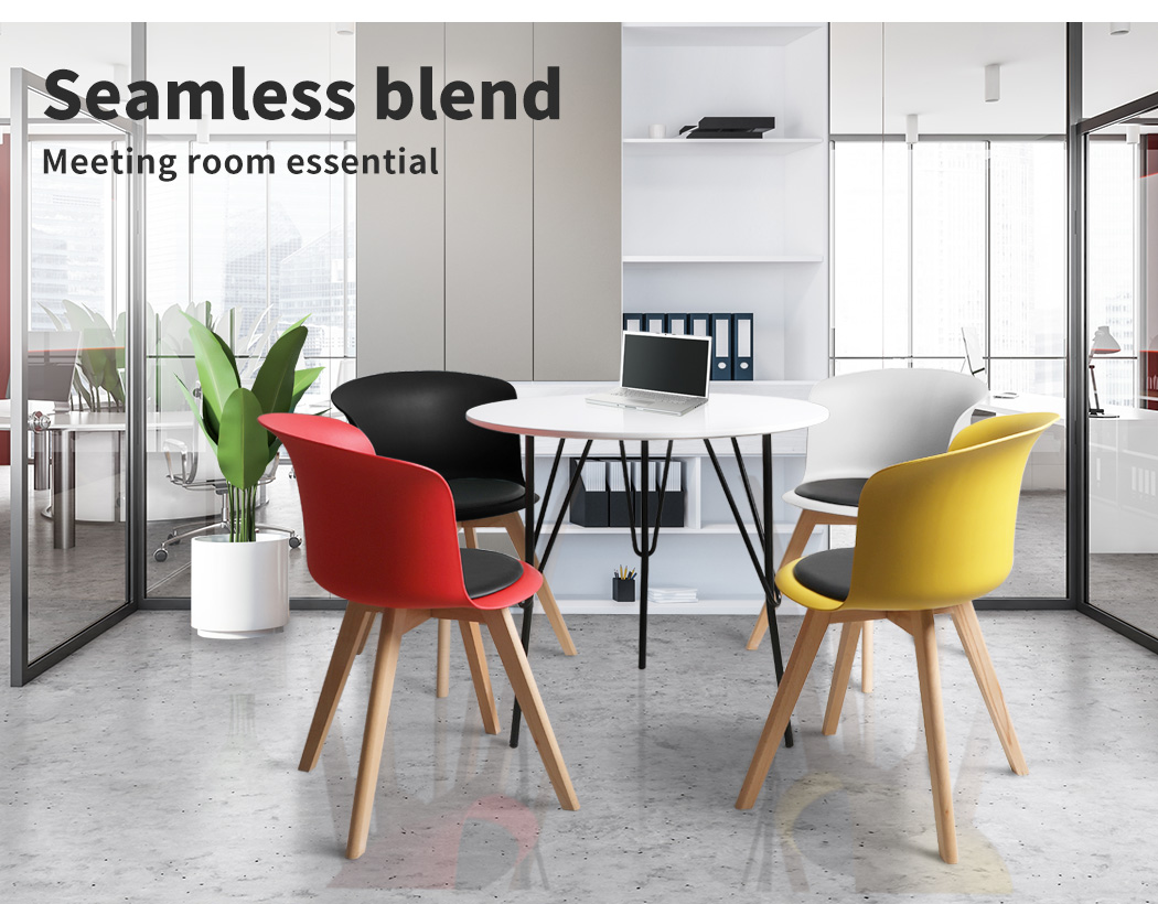 thumbnail 139 - Dining Table Chairs Set Round Café Kitchen Office Meeting Wooden Leg Modern Seat