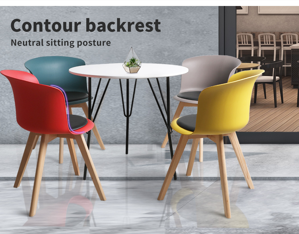 thumbnail 112 - Dining Table Chairs Set Round Café Kitchen Office Meeting Wooden Leg Modern Seat