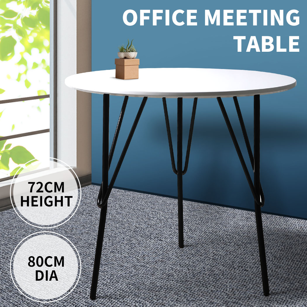 thumbnail 106 - Dining Table Chairs Set Round Café Kitchen Office Meeting Wooden Leg Modern Seat