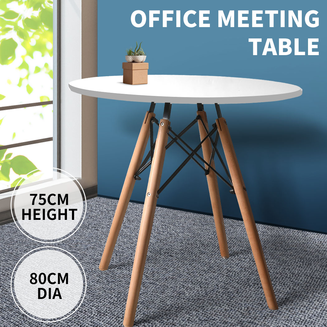 thumbnail 59 - Dining Table Chairs Set Round Café Kitchen Office Meeting Wooden Leg Modern Seat