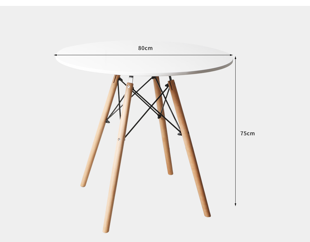 thumbnail 57 - Dining Table Chairs Set Round Café Kitchen Office Meeting Wooden Leg Modern Seat