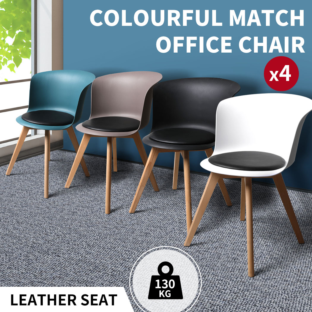 thumbnail 36 - Dining Table Chairs Set Round Café Kitchen Office Meeting Wooden Leg Modern Seat