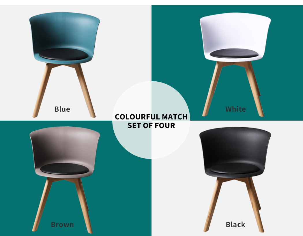 thumbnail 26 - Dining Table Chairs Set Round Café Kitchen Office Meeting Wooden Leg Modern Seat
