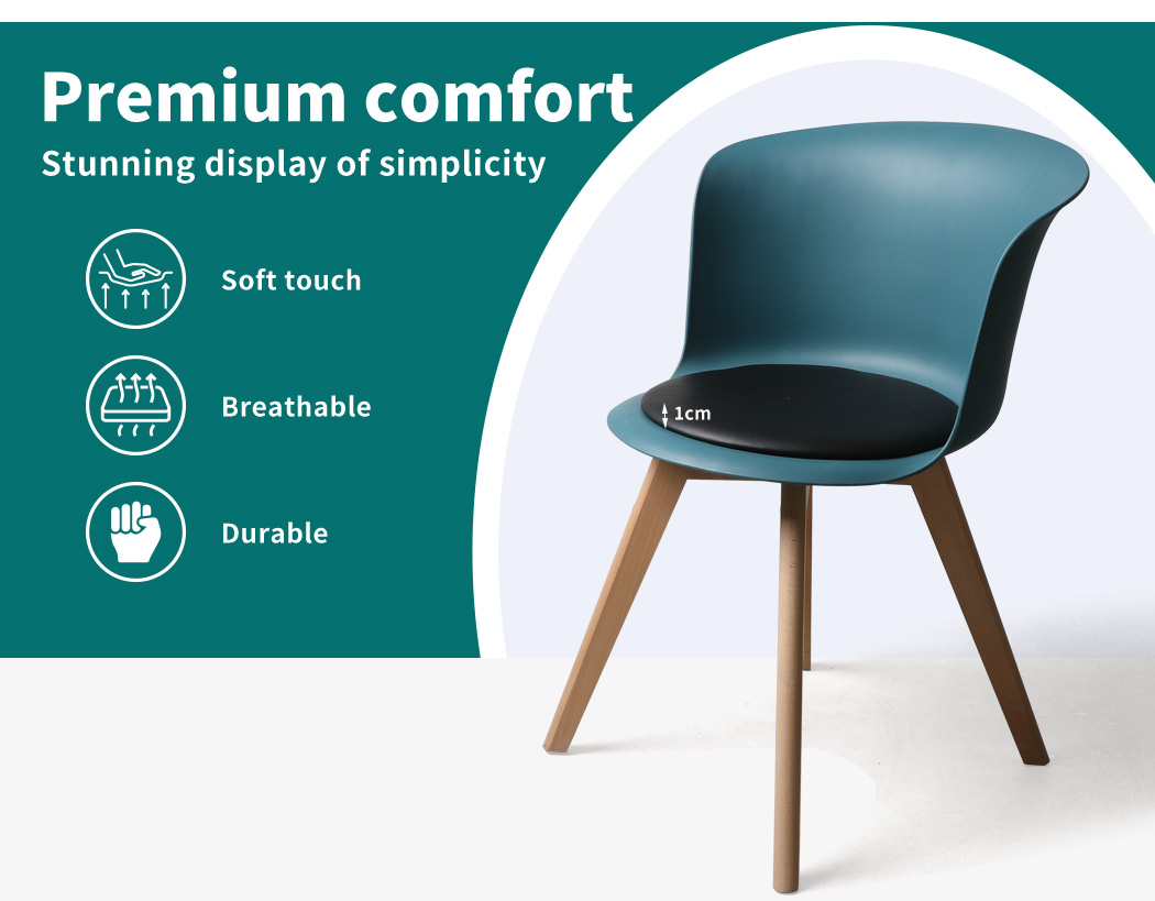 thumbnail 29 - Dining Table Chairs Set Round Café Kitchen Office Meeting Wooden Leg Modern Seat