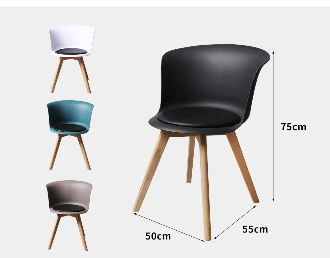 thumbnail 35 - Dining Table Chairs Set Round Café Kitchen Office Meeting Wooden Leg Modern Seat
