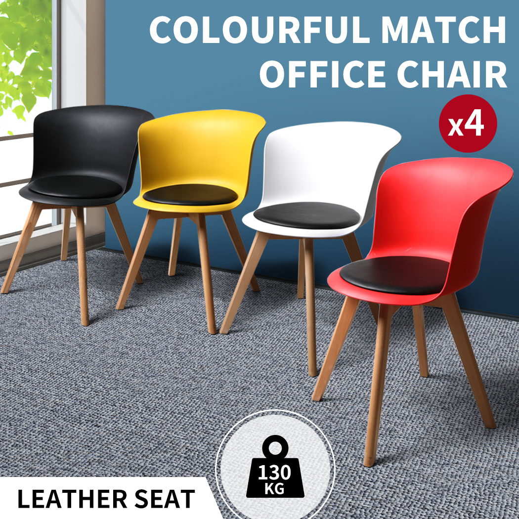 thumbnail 48 - Dining Table Chairs Set Round Café Kitchen Office Meeting Wooden Leg Modern Seat