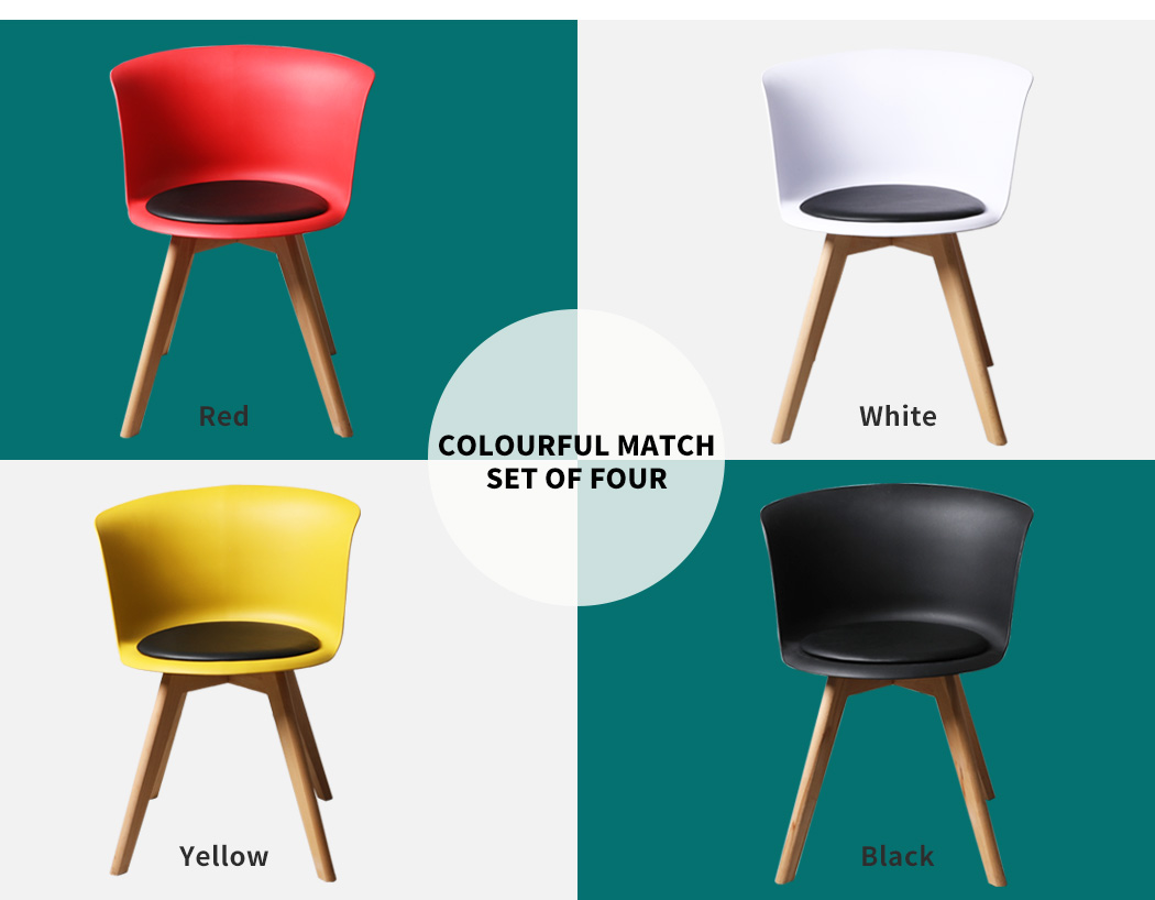 thumbnail 38 - Dining Table Chairs Set Round Café Kitchen Office Meeting Wooden Leg Modern Seat