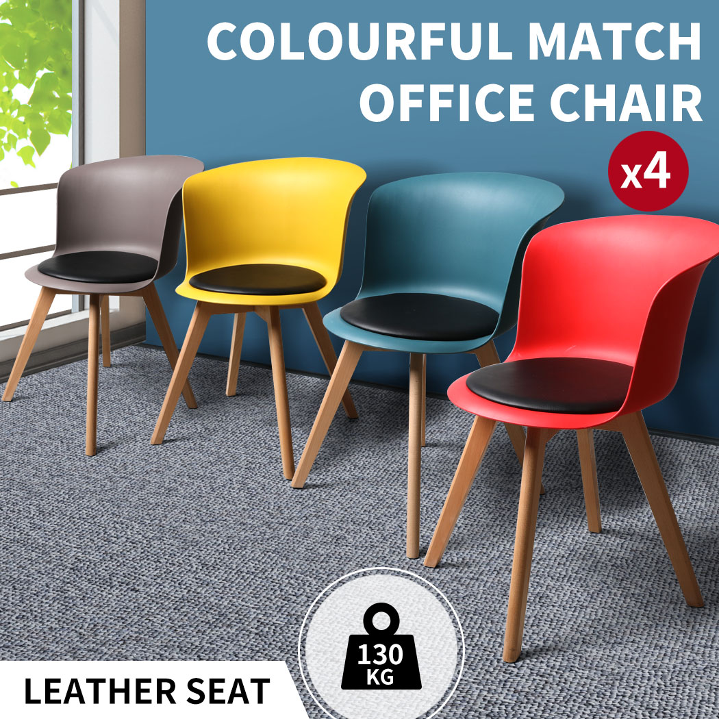 thumbnail 24 - Dining Table Chairs Set Round Café Kitchen Office Meeting Wooden Leg Modern Seat