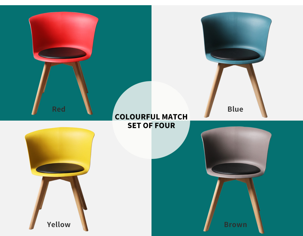thumbnail 14 - Dining Table Chairs Set Round Café Kitchen Office Meeting Wooden Leg Modern Seat