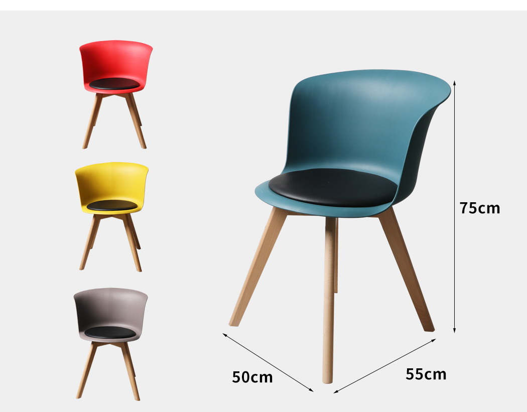 thumbnail 23 - Dining Table Chairs Set Round Café Kitchen Office Meeting Wooden Leg Modern Seat