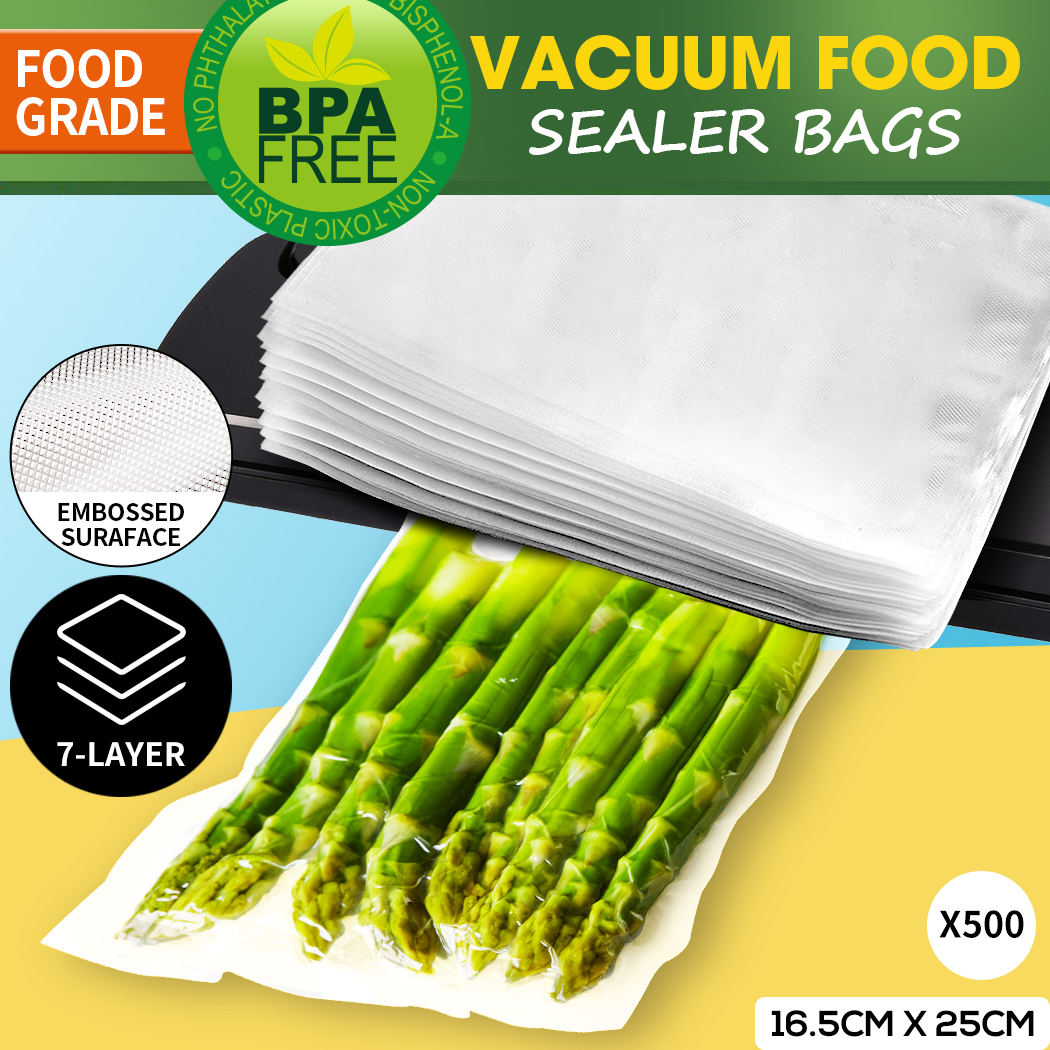 thumbnail 34 - Vacuum Food Sealer Storage Bags Saver Seal Bags Commercial Heat 100/200/500x