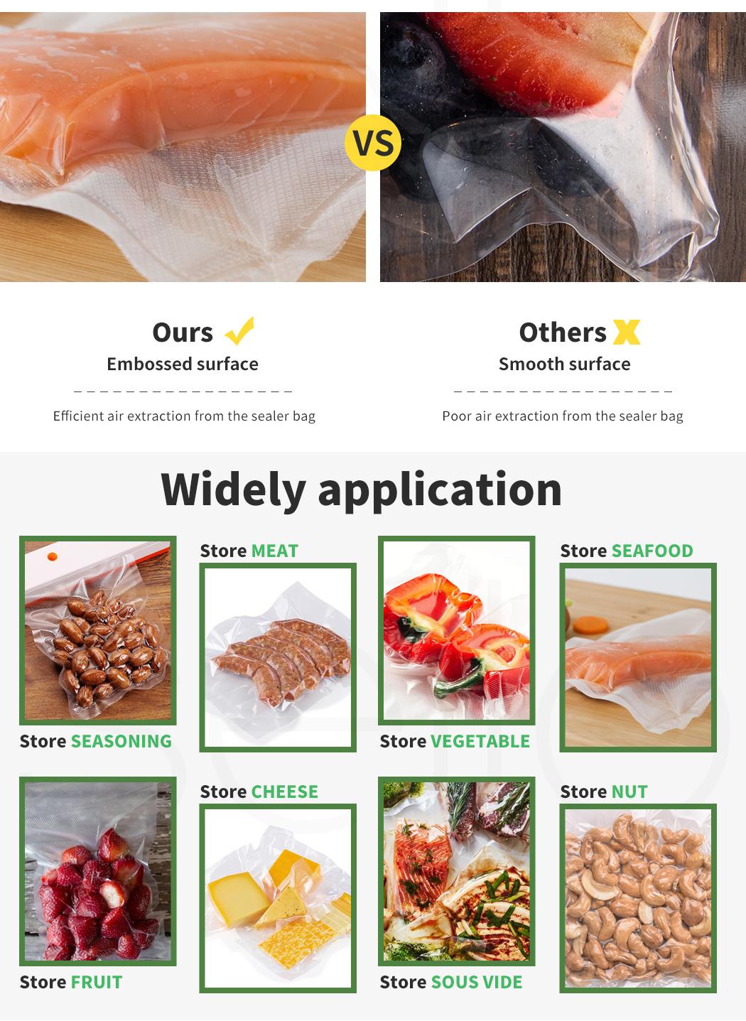 thumbnail 51 - Vacuum Food Sealer Storage Bags Saver Seal Bags Commercial Heat 100/200/500x
