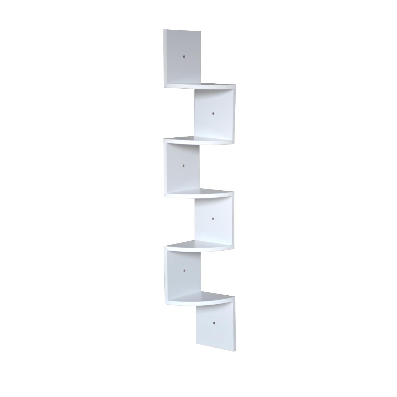 thumbnail 40 - Levede 5 Tier Corner Wall Shelf Display Shelves DVD CD Storage Zig-tag Rack