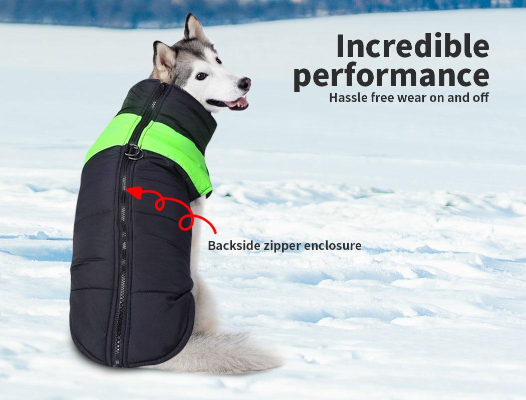 thumbnail 17 - PaWz Dog Jacket Large Pet Jackets Coat Waterproof Clothes Winter Vest Green