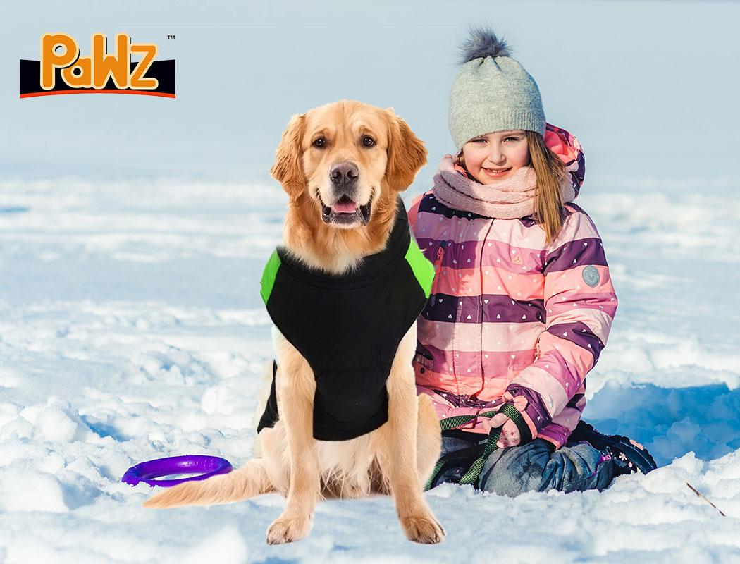 thumbnail 19 - PaWz Dog Jacket Large Pet Jackets Coat Waterproof Clothes Winter Vest Green