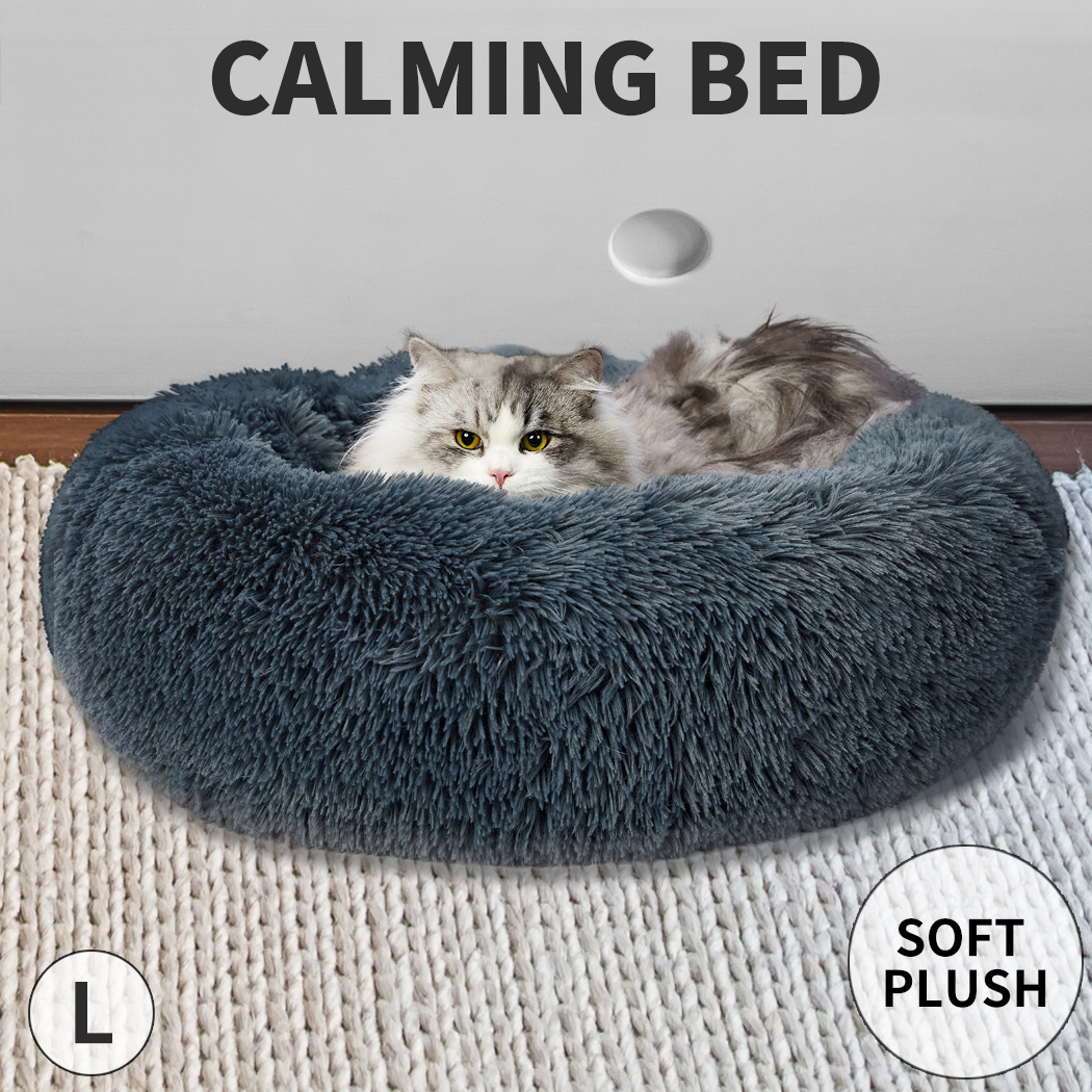 thumbnail 33 - PaWz Dog Calming Bed Cat Cave Pet Nest Soft Plush Warm Comfy Kennel Extra Large