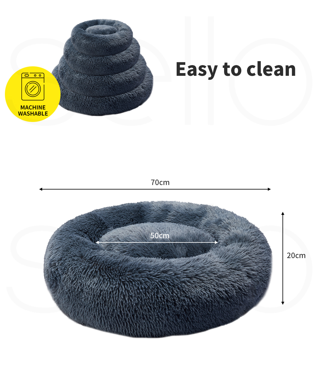 thumbnail 31 - PaWz Dog Calming Bed Cat Cave Pet Nest Soft Plush Warm Comfy Kennel Extra Large