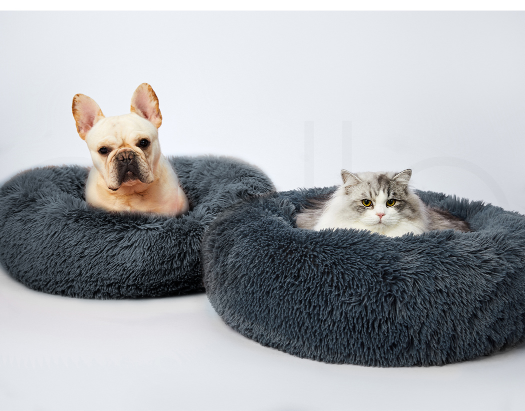 thumbnail 32 - PaWz Dog Calming Bed Cat Cave Pet Nest Soft Plush Warm Comfy Kennel Extra Large