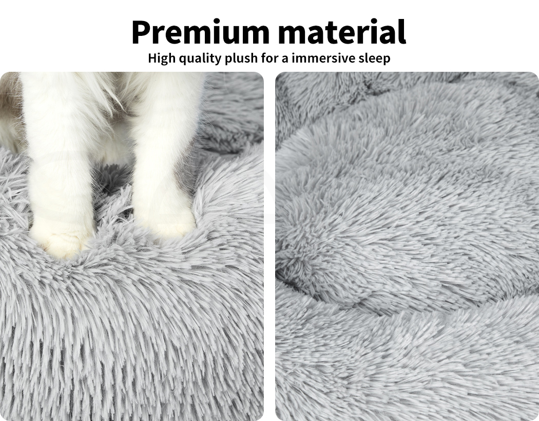 thumbnail 39 - PaWz Dog Calming Bed Cat Cave Pet Nest Soft Plush Warm Comfy Kennel Extra Large