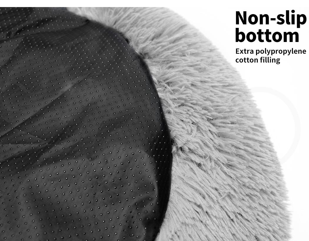 thumbnail 126 - PaWz Pet Bed Cat Dog Donut Nest Calming Mat Soft Plush Kennel Cave Deep Sleeping