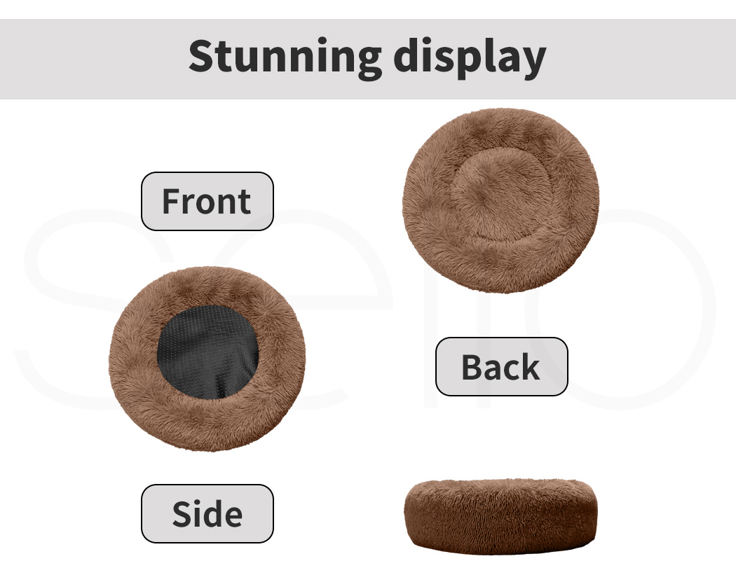 thumbnail 13 - PaWz Dog Calming Bed Cat Cave Pet Nest Soft Plush Warm Comfy Kennel Extra Large