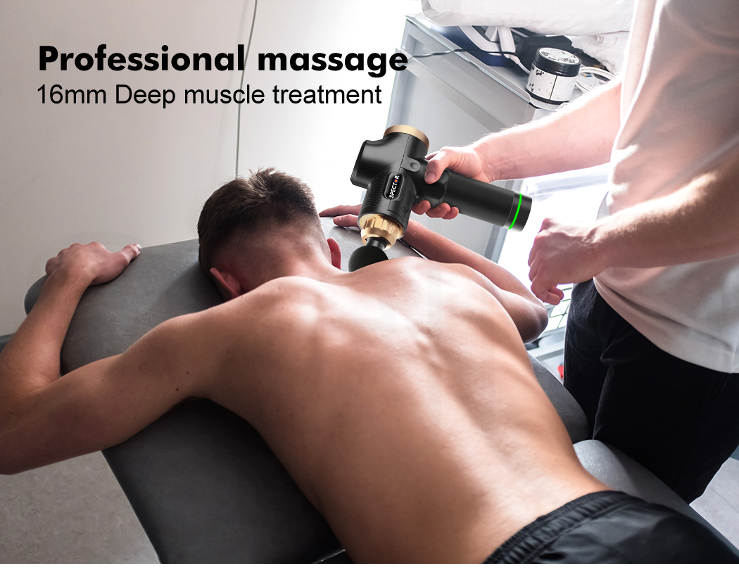 thumbnail 15 - Massage-Gun-Electric-Massager-Vibration-Muscle-Therapy-4-Heads-Percussion-Tissue