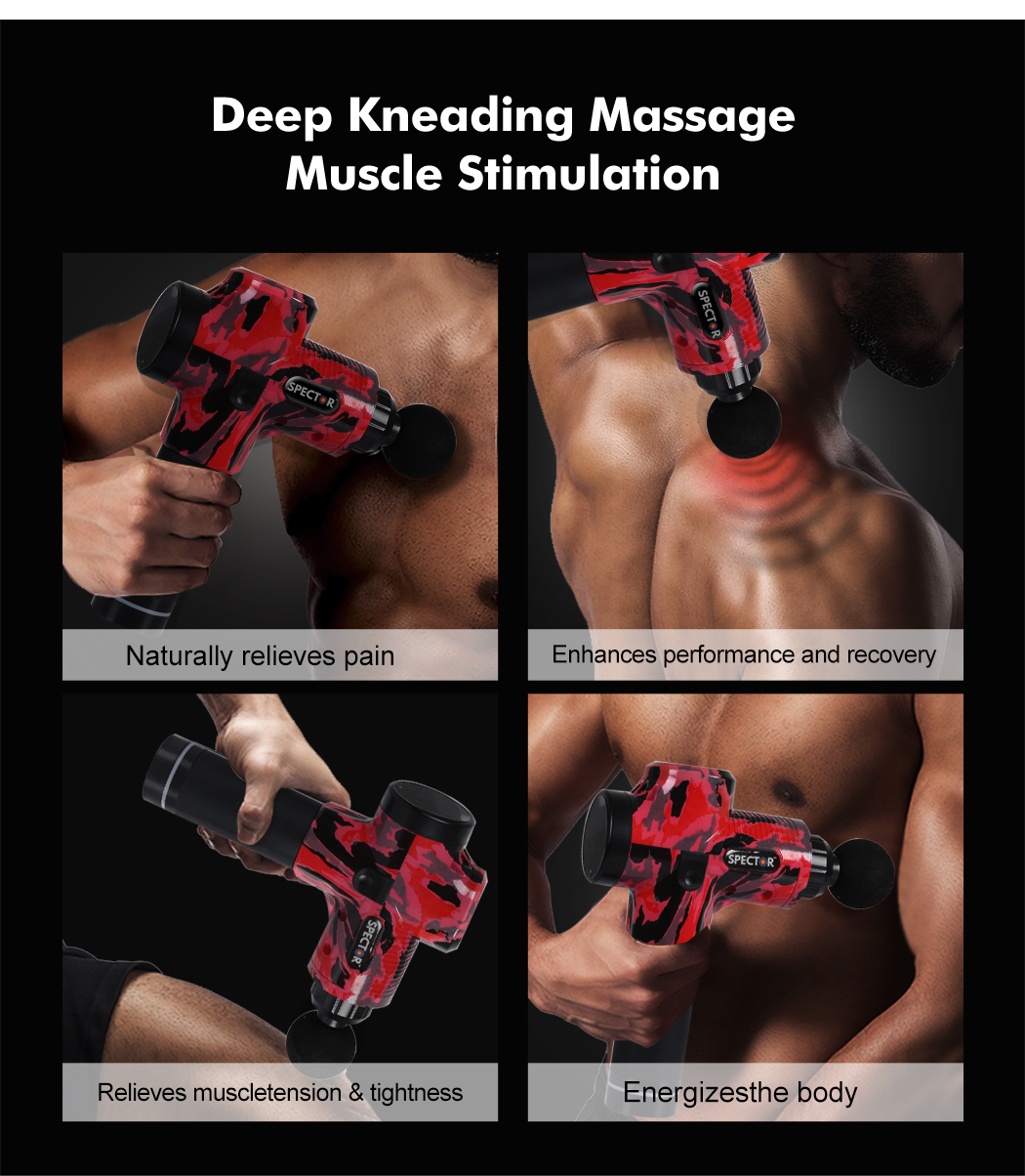 thumbnail 25 - Massage-Gun-Electric-Massager-Vibration-Muscle-Therapy-4-Heads-Percussion-Tissue