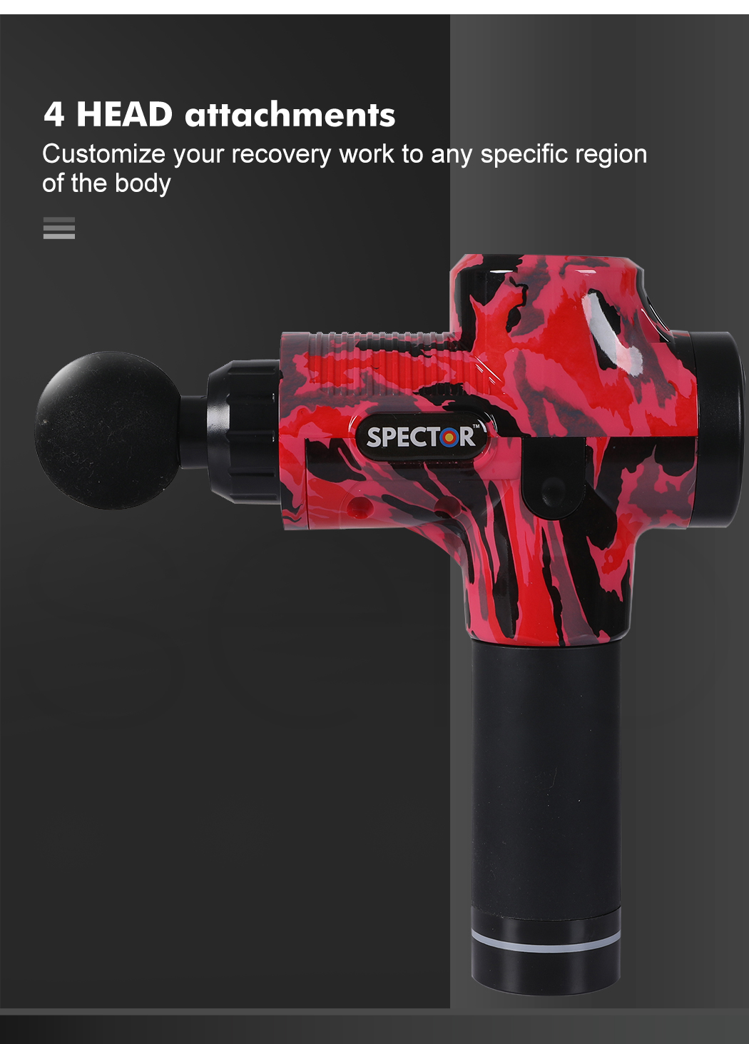 thumbnail 29 - Massage Gun Electric Massager Vibration Muscle Therapy 4 Heads Percussion Tissue