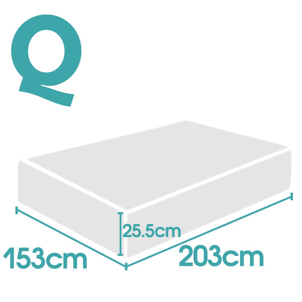 thumbnail 45 - DreamZ Mattress Topper Memory Foam 25cm Comfort Washable Soft Cover King Queen