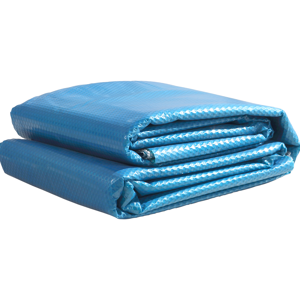 Solar-Swimming-Pool-Cover-400-500-Micron-Outdoor-Bubble-Blanket-Covers-7-Sizes thumbnail 150
