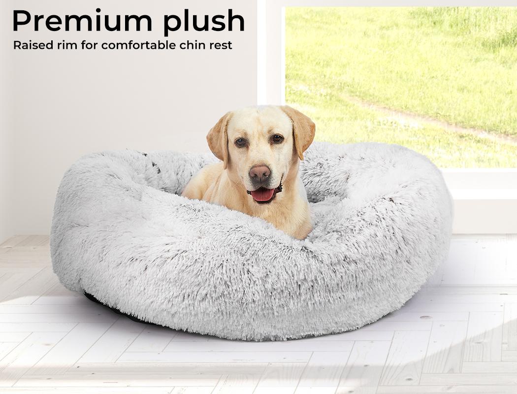 thumbnail 61 - PaWz Jumbo Pet Bed Cat Dog Donut Nest Calming Plush Kennel Washable Sleeping