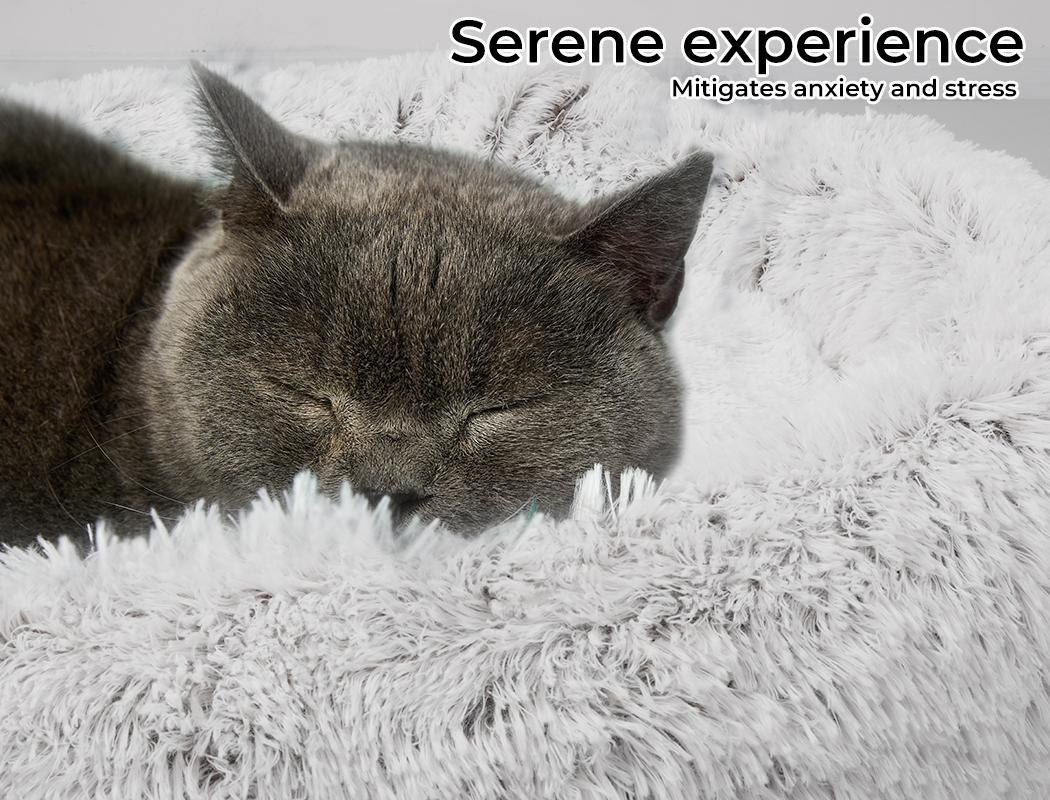 thumbnail 62 - PaWz Jumbo Pet Bed Cat Dog Donut Nest Calming Plush Kennel Washable Sleeping