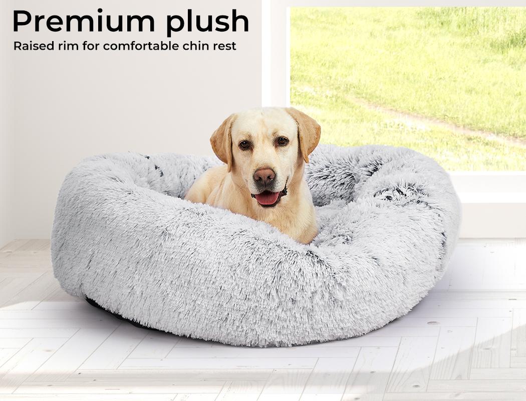 thumbnail 17 - PaWz Jumbo Pet Bed Cat Dog Donut Nest Calming Plush Kennel Washable Sleeping