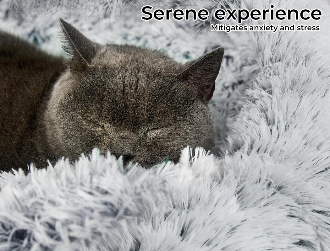 thumbnail 18 - PaWz Jumbo Pet Bed Cat Dog Donut Nest Calming Plush Kennel Washable Sleeping