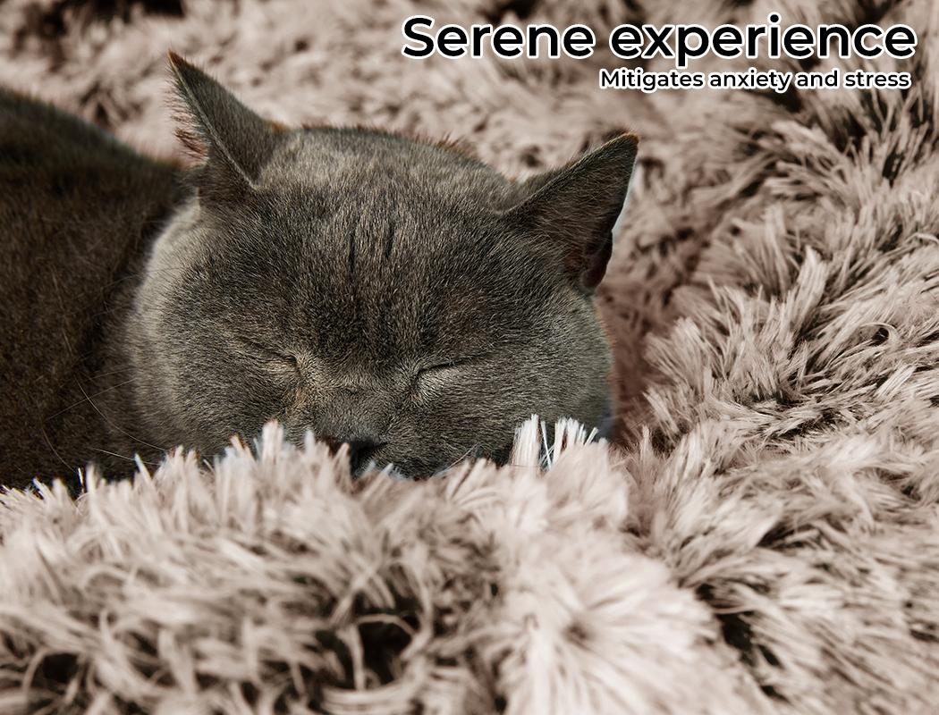 thumbnail 29 - PaWz Jumbo Pet Bed Cat Dog Donut Nest Calming Plush Kennel Washable Sleeping