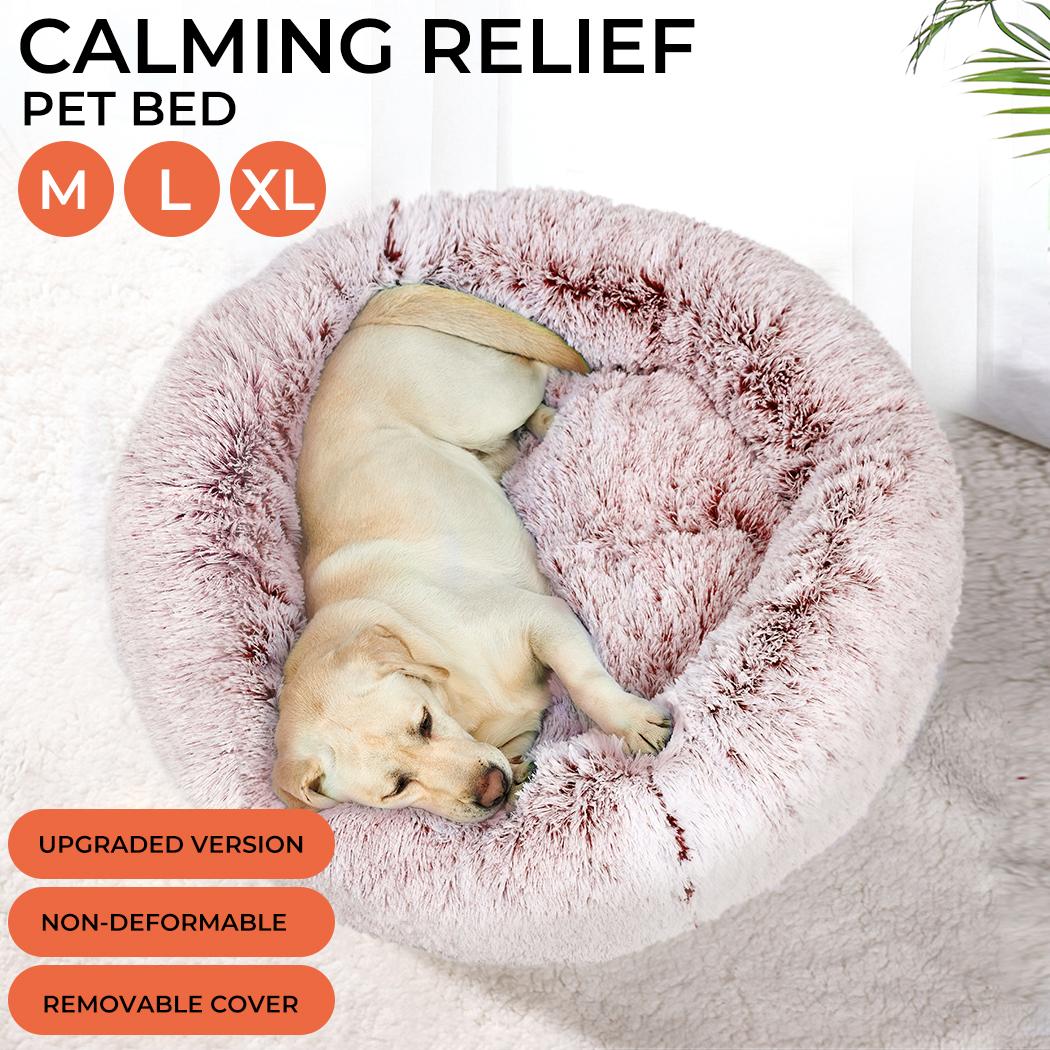 thumbnail 45 - PaWz Jumbo Pet Bed Cat Dog Donut Nest Calming Plush Kennel Washable Sleeping