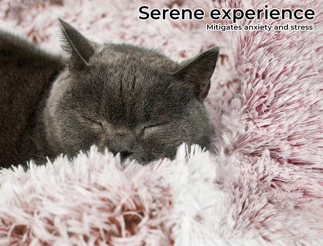 thumbnail 40 - PaWz Jumbo Pet Bed Cat Dog Donut Nest Calming Plush Kennel Washable Sleeping