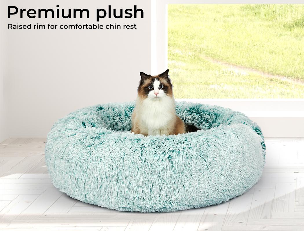 thumbnail 50 - PaWz Jumbo Pet Bed Cat Dog Donut Nest Calming Plush Kennel Washable Sleeping