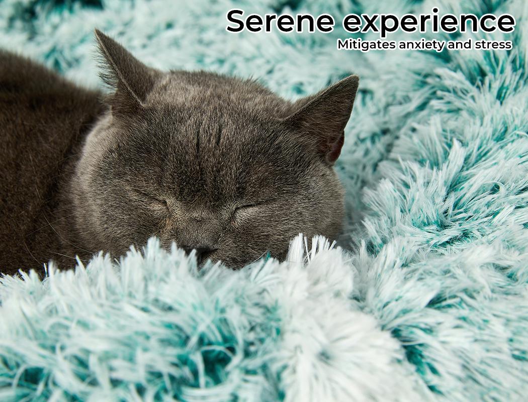 thumbnail 51 - PaWz Jumbo Pet Bed Cat Dog Donut Nest Calming Plush Kennel Washable Sleeping