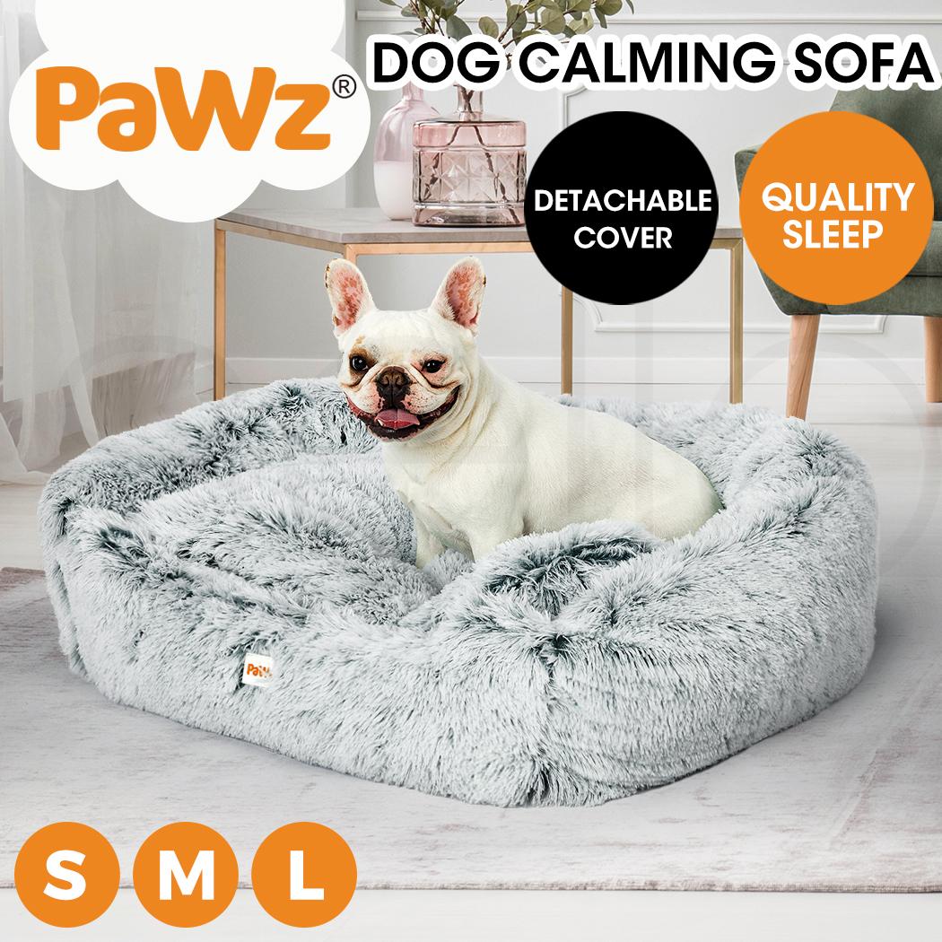 thumbnail 79 - PaWz Jumbo Pet Bed Cat Dog Donut Nest Calming Plush Kennel Washable Sleeping