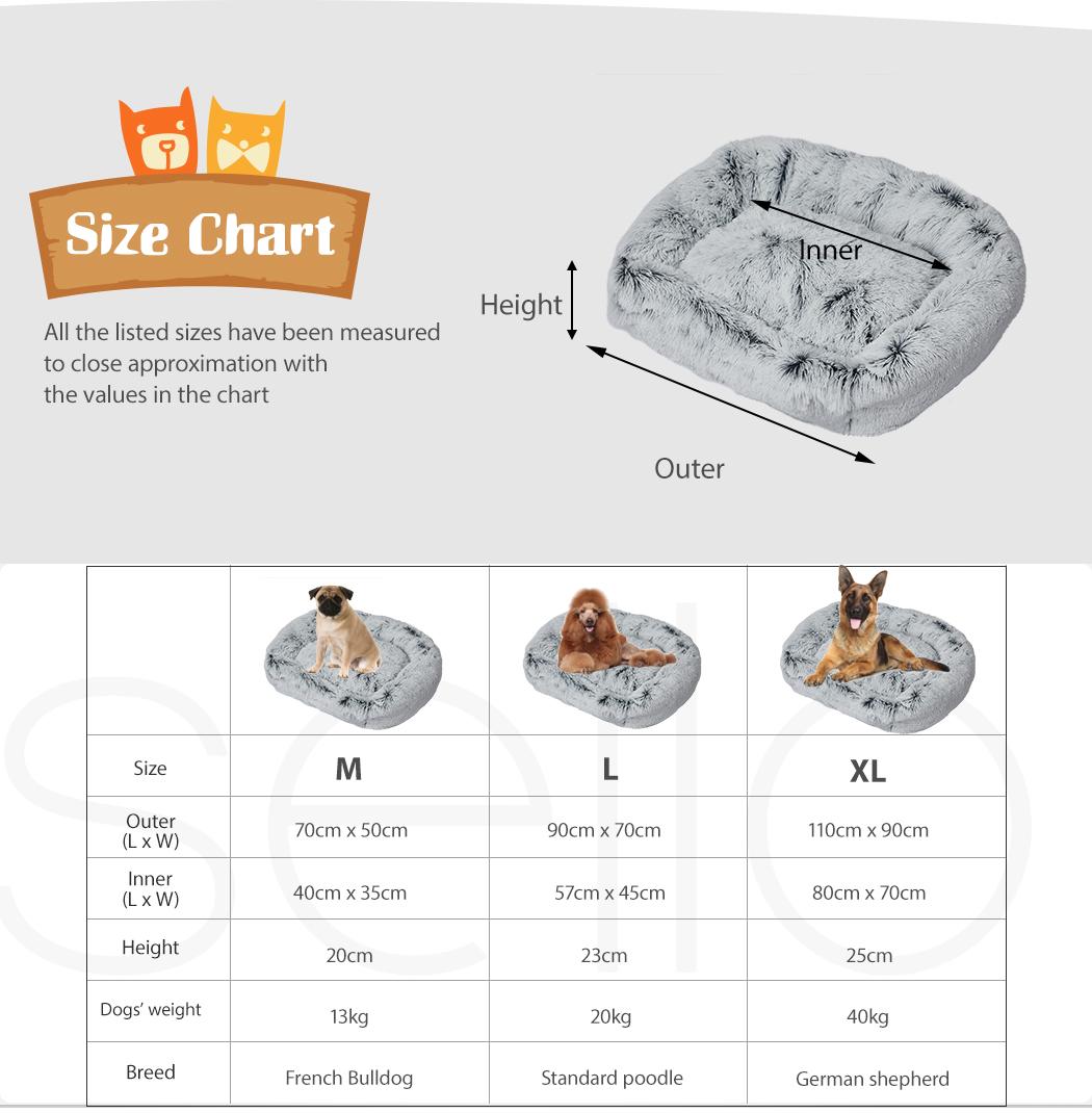 thumbnail 69 - PaWz Jumbo Pet Bed Cat Dog Donut Nest Calming Plush Kennel Washable Sleeping