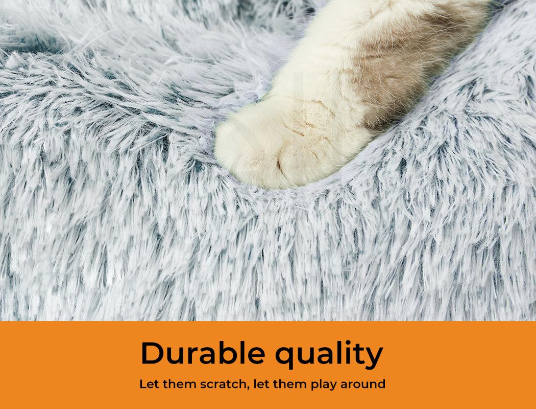 thumbnail 72 - PaWz Jumbo Pet Bed Cat Dog Donut Nest Calming Plush Kennel Washable Sleeping