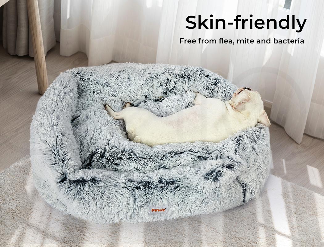 thumbnail 75 - PaWz Jumbo Pet Bed Cat Dog Donut Nest Calming Plush Kennel Washable Sleeping