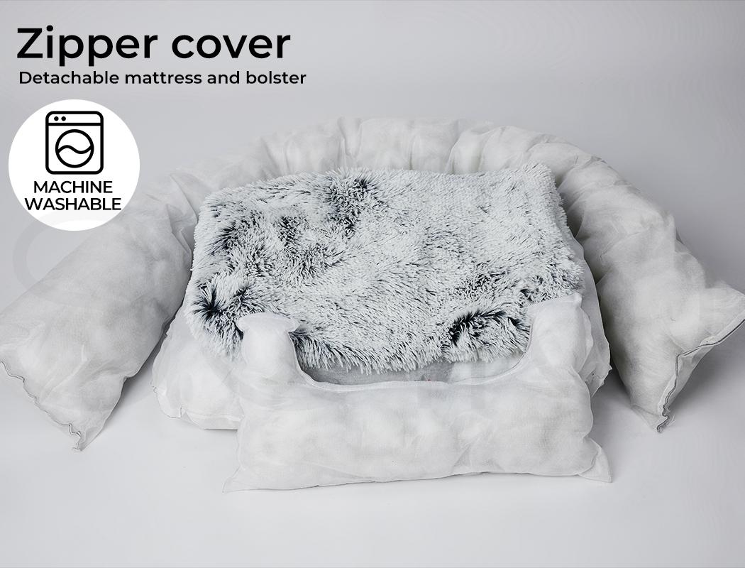 thumbnail 77 - PaWz Jumbo Pet Bed Cat Dog Donut Nest Calming Plush Kennel Washable Sleeping
