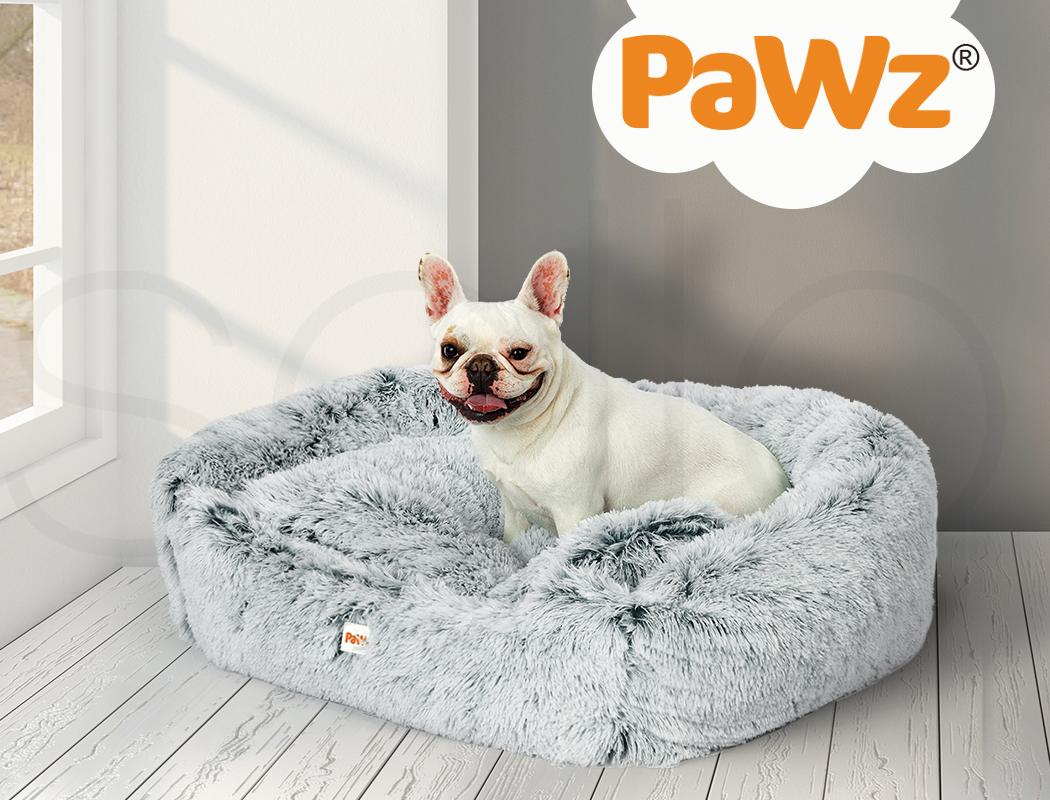 thumbnail 78 - PaWz Jumbo Pet Bed Cat Dog Donut Nest Calming Plush Kennel Washable Sleeping