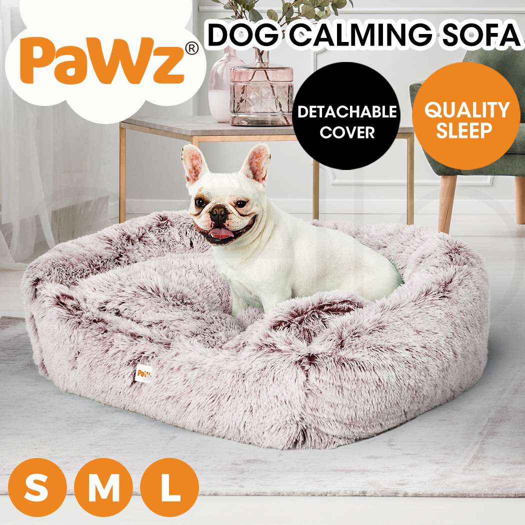 thumbnail 91 - PaWz Jumbo Pet Bed Cat Dog Donut Nest Calming Plush Kennel Washable Sleeping