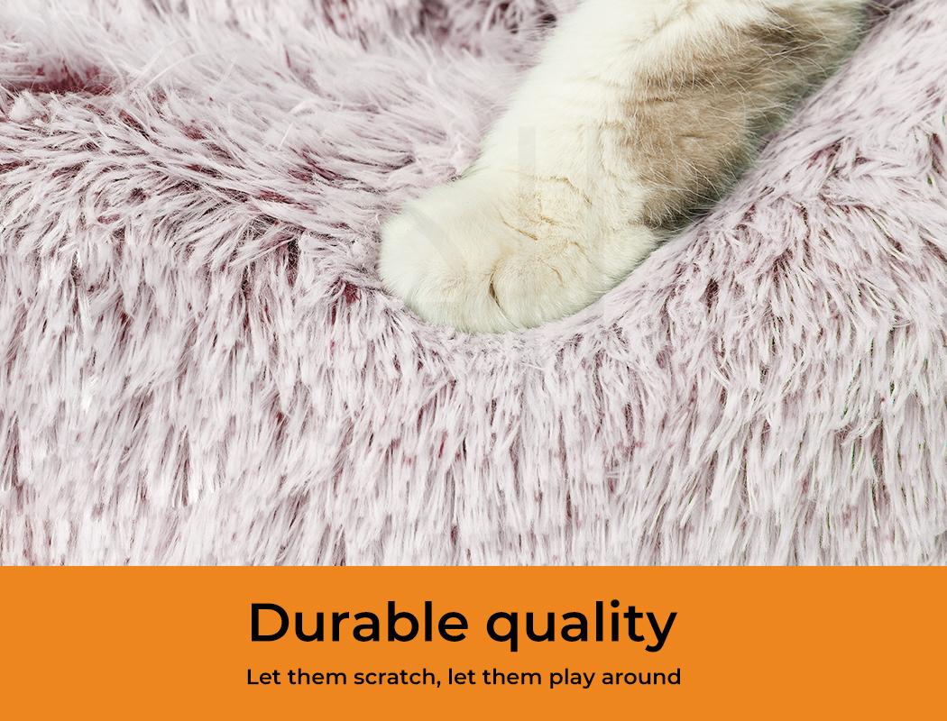 thumbnail 84 - PaWz Jumbo Pet Bed Cat Dog Donut Nest Calming Plush Kennel Washable Sleeping